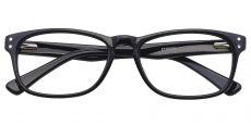 Morris Rectangle Prescription Glasses - Black