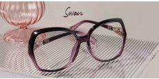 Swan Geometric Single Vision Glasses - Purple