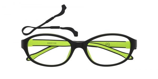Stone Oval Prescription Glasses - Green
