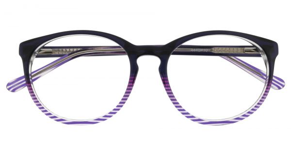 Jetta Oval Prescription Glasses - Purple
