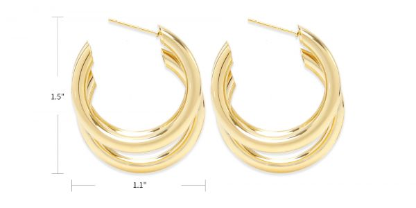 Dani Hoop Earrings eyeglasses