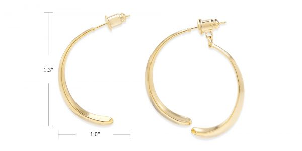 Carrie Hoop Earrings eyeglasses