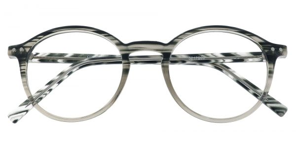 Harvard Round Prescription Glasses - Striped