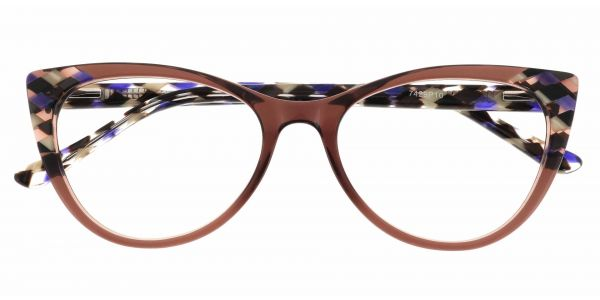 Mavis Cat Eye Prescription Glasses - Purple