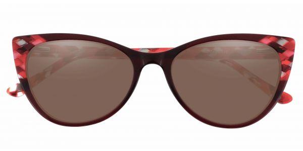 Mavis Cat Eye Prescription Glasses - Red