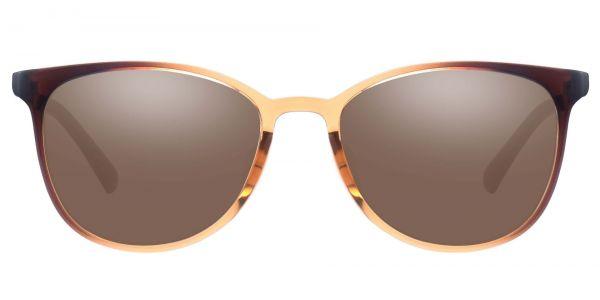McGregor Oval Prescription Glasses - Brown