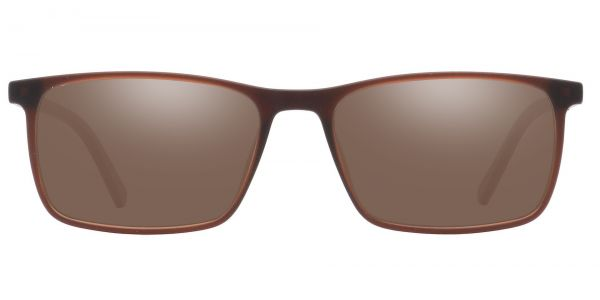 Helga Rectangle Prescription Glasses - Brown-1