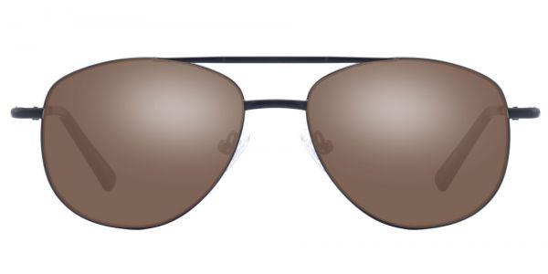 Dwight Aviator Prescription Glasses - Black-1