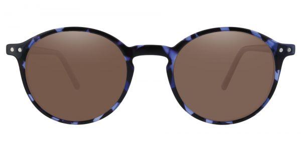Harvard Round Prescription Glasses - Blue