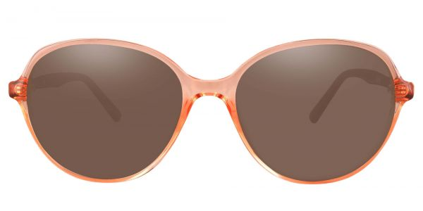 Luella Oval Prescription Glasses - Pink