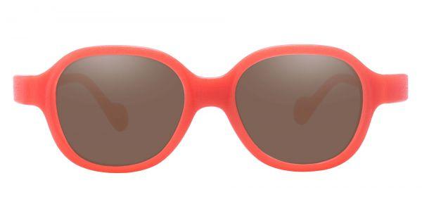 Oden Oval Prescription Glasses - Orange-1