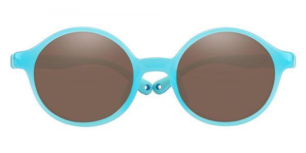 Sammy Round Prescription Glasses - Blue-1