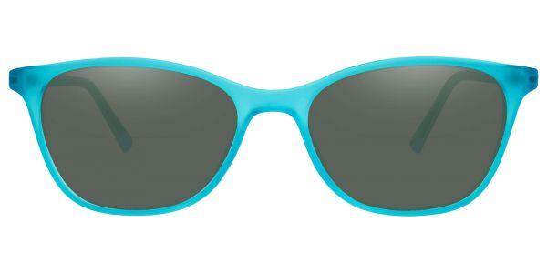 Sasha Classic Square Prescription Glasses - Blue-2