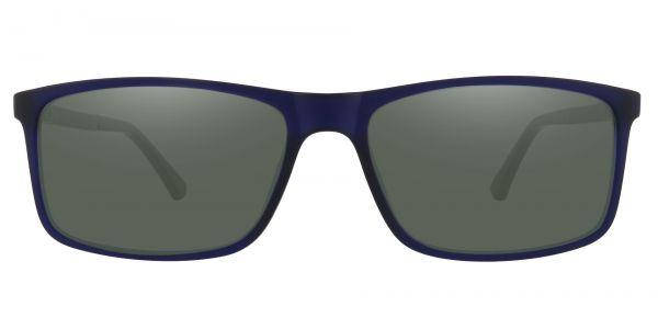 Montana Rectangle Prescription Glasses - Blue-2