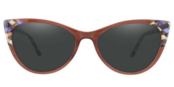 Mavis Cat Eye Prescription Glasses - Purple-1