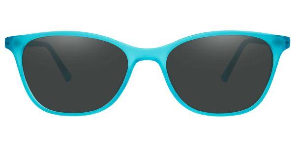 Sasha Classic Square Prescription Glasses - Blue-1
