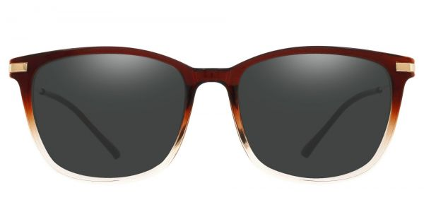 Katie Oval Prescription Glasses - Brown-1