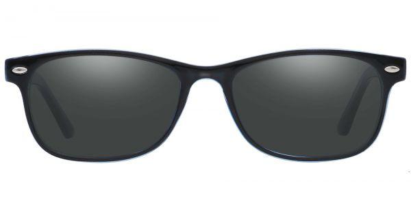 Village Rectangle Prescription Glasses - Black-1