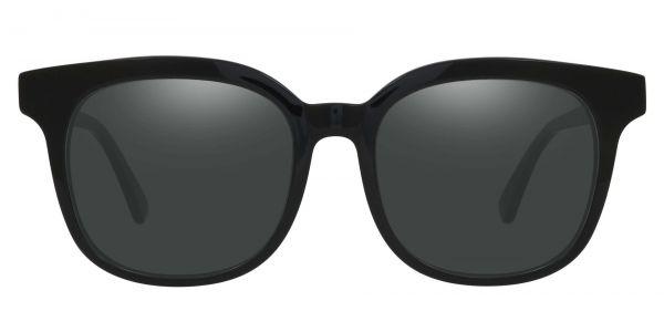 Tenor Square Prescription Glasses - Black-1