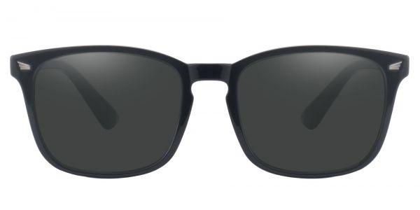 Rogan Square Prescription Glasses - Black-1