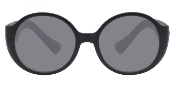 Raven Round Prescription Glasses - Black