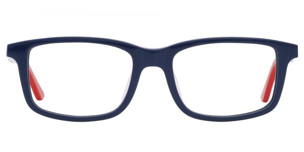 Hub Rectangle Prescription Glasses - Blue