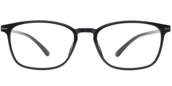 Cabo Oval Prescription Glasses - Black