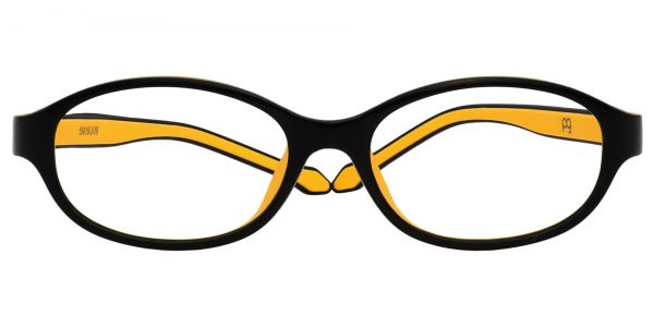Stone Oval Prescription Glasses - Yellow