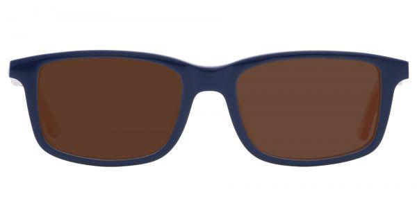 Hub Rectangle Prescription Glasses - Blue