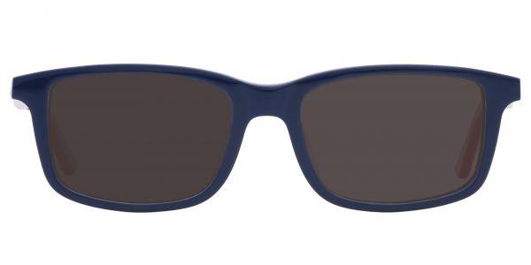 Hub Rectangle Prescription Glasses - Blue-1