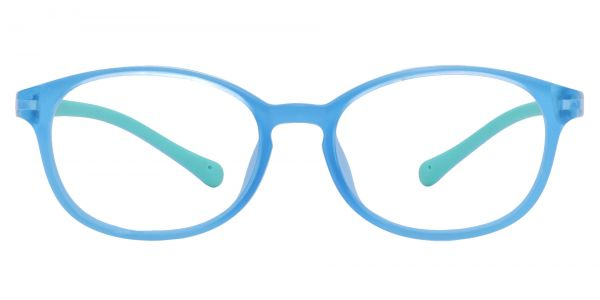 Sapphire Oval Prescription Glasses - Blue
