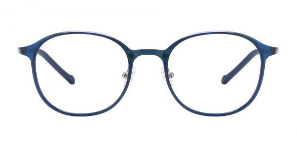 Stout Oval Prescription Glasses - Blue