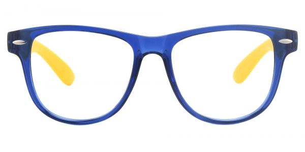 Radio Square Prescription Glasses - Blue