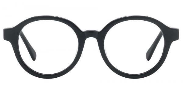 Steel City Round Prescription Glasses - Black