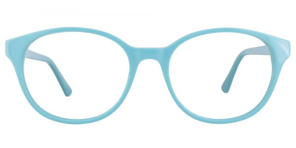 Cadet Oval Prescription Glasses - Blue