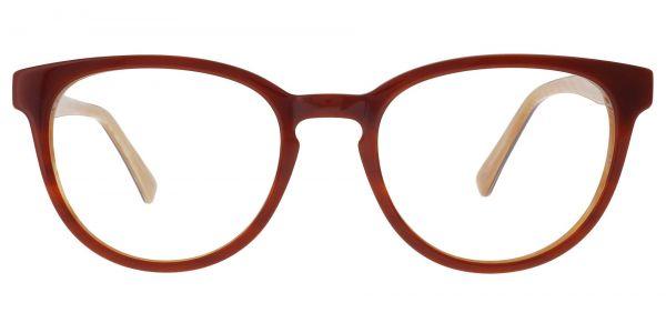 Toffee Oval Prescription Glasses - Brown