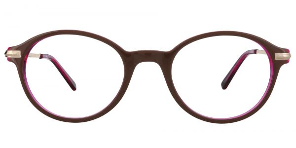 Artemis Oval Prescription Glasses - Brown