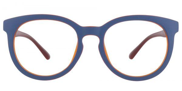 Dudley Oval Prescription Glasses - Blue