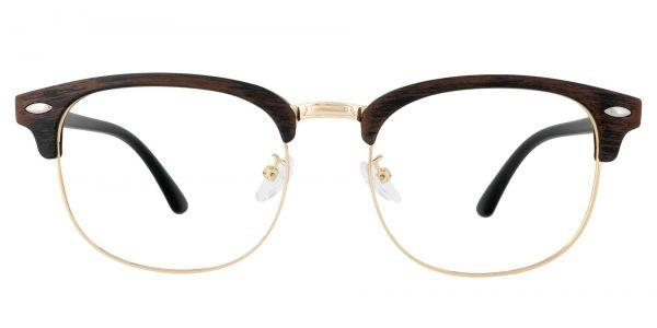 Tulsa Browline Prescription Glasses - Brown