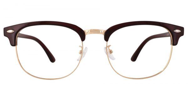 Tulsa Browline Prescription Glasses - Red