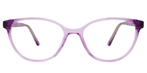 Carma Oval Prescription Glasses - Purple