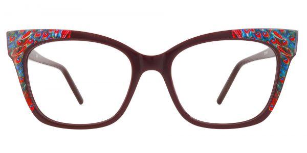 Hera Cat Eye Prescription Glasses - Red