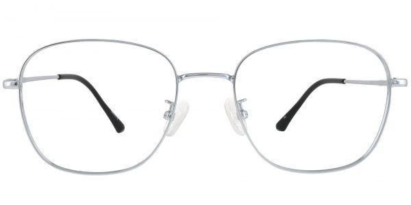 Fresno Square Prescription Glasses - Silver