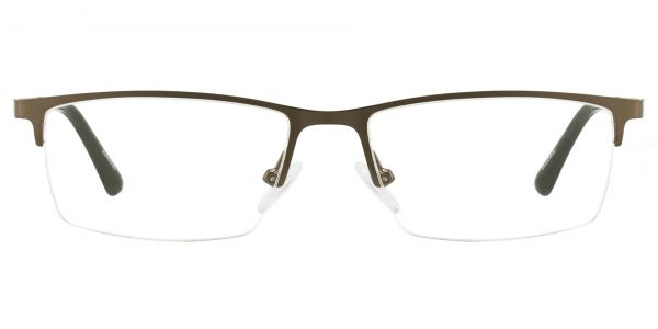 Lombard Rectangle Prescription Glasses - Brown