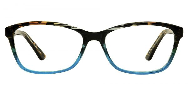 Selena Rectangle Prescription Glasses - Blue