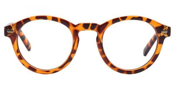 Vee Round Prescription Glasses - Brown
