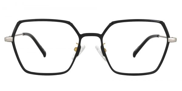 Daro Geometric Prescription Glasses - Black