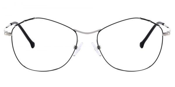 Bamboo Geometric Prescription Glasses - White