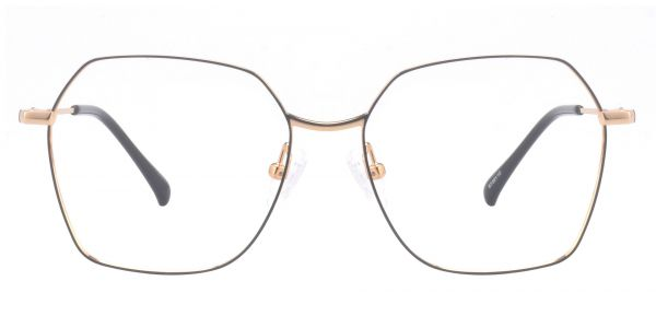 Ahmad Geometric Prescription Glasses - Yellow