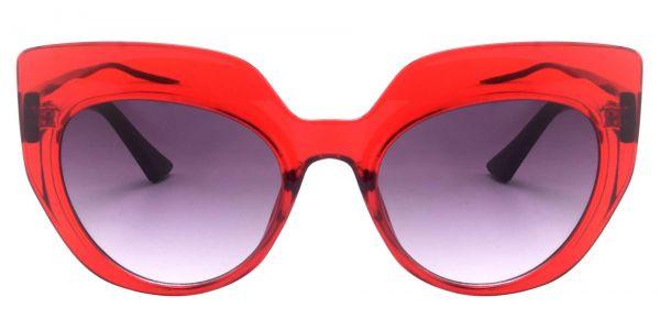 Starlight Cat Eye Prescription Glasses - Red